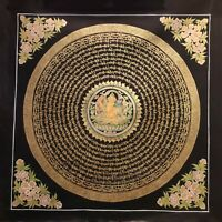Genuine HandPainted Tibetan Mantra Mandala thangka Painting Meditation Buddha 2
