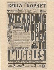 Harry Potter Daily Prophet Wizarding Word Open To Muggles Flyer/Poster Replica