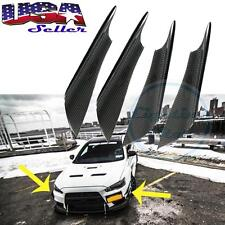 (4) Universal Car Body Front Bumper Canards Splitters Sport Real Carbon Fiber