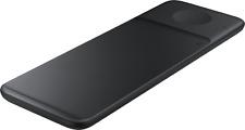 Samsung Wireless Charger Trio Pad EP-P6300, Schwarz, Quick Charging, BRANDNEU