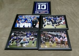 New York Giants Eli Manning Saquon Barkley 8x10 Framed Jersey Photo