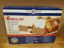 New listing Usa Pan Bakeware Aluminized Steel 6 Pieces Set, Cookie Sheet, Half Sheet, Loaf