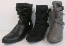 Botas de mujer Botines color principal gris de piel sintética