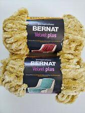 Bernat Velvet Plus Yarn Lot Harvest Green 10.5 oz Polyester Super Bulky Chunky