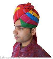 Men Turban Hat Traditional Handmade Cotton Blend Pagri 7 1/8 Top Hat