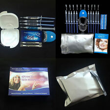 PROFESSION TEETH WHITENING KIT WHITE DENTAL GEL NON PEROXIDE LED LIGHT UK SELLER