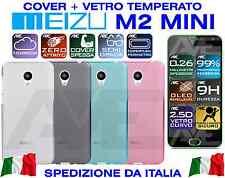Cover Custodia Silicone + Vetro Temperato Meizu M2 Mini Case Tpu Gel Morbida 3D