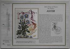 Document philatélique CEF Soie 681 1er jour 1983 Aster Flore de France