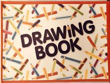 Club Drawing Book 20 Pages Plain White Paper 203 x 297mm. Fast Same Day Despatch