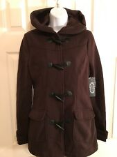 AMBIANCE  Brown Jacket with Hood - Size Small - Nice New w/ tags & spare button
