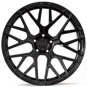 "20"" Rohana RFX10 Gloss Black Concave Wheels for Audi"