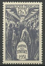 France Frankreich Journée du Timbre Surtaxé Train Postal Railway Bahnpost **1951