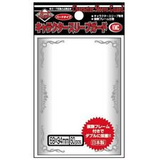 KMC Character Guards Card Game Over Sleeves Clear Silver Frame Design 60CT