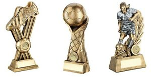 9,10 & 11 inch Girls Football Trophy Awards engraved/post free (RRP £57.24)