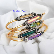 Similar 1Pcs Cuff Rainbow Quartz Titanium Druzy Bangle & Zricon AJ100