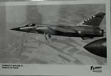 Flight International Photo Dassault Mirage F1 French Air Force  Postcard