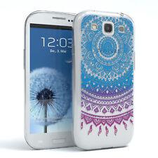 Hülle für Samsung Galaxy S3 / Neo Schutz Cover Handy Case Motiv Blau / Lila