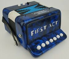 Vintage First Act Discovery Blue Faux Mother of Pearl Children Youth Accordion