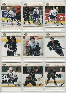 2003-04 PACIFIC SUPREME 100 CARD HOCKEY BASE SET & 23 ROOKIE CARDS