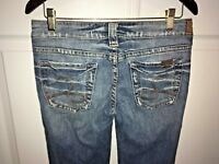Silver Jeans Distressed Boot Cut Tuesday Blue Jeans Women's Size 27 x 33