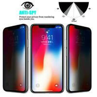 Anti-Spy Privacy Tempered Glass Screen Protector For Apple iPhone 11 Pro Max Xr