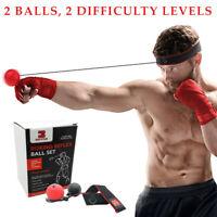Boxing Reflex Ball by Box R' Flex: 2 Punching Balls Headband With Hand Wraps