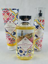 Bath & Body Works Capri Coastal Citrus Mist, Shower Gel, and Body Cream Set