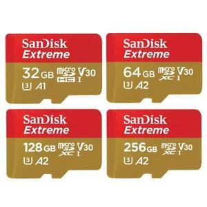 SanDisk Extreme Micro SD SDXC 160MBs 32GB 64GB 128GB 256GB 512GB 1TB