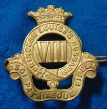 WW2 era CANADA Armed Forces Princess Louise's VIII 8th Hussars metal cap badge