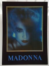 MADONNA RARE 15x11 cms ENGLISH POSTCARD WITH BIO / BOYTOY REFLEX MARKETING 1986
