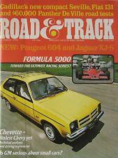 Road & Track 10/1975 featuring Panther De Ville, Cadillac Seville, Fiat, Jaguar