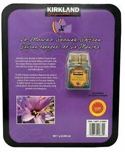 KIRKLAND Saffron 1g La Mancha Spanish Saffron New in Package