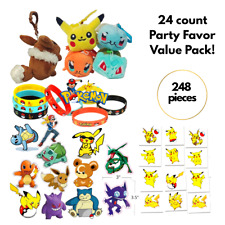 Pokemon Party Favor Value Pack - Plush Toys, Wristband, Tattoos & Stickers