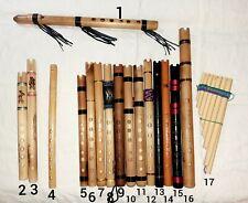 Quena, Quenacho, Quenilla, Pinkullo, Zampoña - Native Andes flutes
