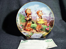 "M.J. Hummel Little Companions Collector Plate ""Little Explorers"" 1990 Mib Coa"