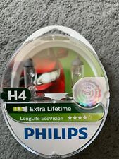 Philips LongLife EcoVision H4 12342LLECOS2 Headlight Bulb Kit with 2 Bulb