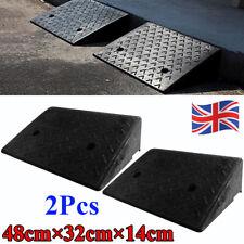 UK 2 Pcs Rubber Ramps Kerb Cars Caravans Wheelchair Mobility 48cm x 32cm x 14 cm