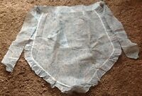 UNUSED VINTAGE MARGARET BOOKER APRON, BLUE WHITE PAISLEY