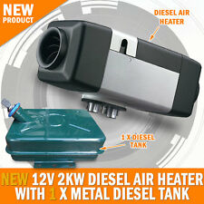 NEW 12 Volt 2KW Diesel Air Heater With Metal Tank Caravan, Camping RV