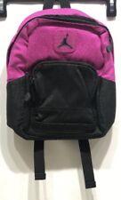 New Nike Air Jordan Mini Backpack Fuschia and Black flash Black Jordan Logo dd760b16bfcf7