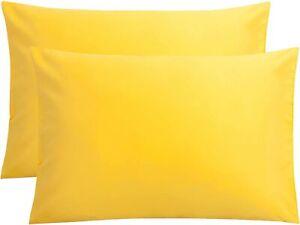 FLXXIE 2 Pack Microfiber Pillowcases, Envelope Closure, Ultra Soft and Premium Q