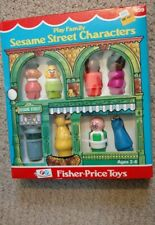 Set of 8- Vintage Fisher Price Little People Play Family Sesame Street Figures 1