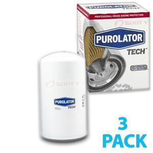 3 pc Purolator TECH TL44872 Engine Oil Filters for 1734 1734MP 1814562-C1 je