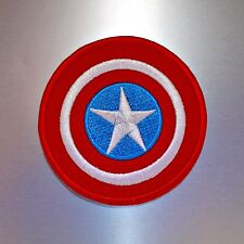 Captain America Shield Patch — Iron On Badge Embroidered Motif — Retro Comic