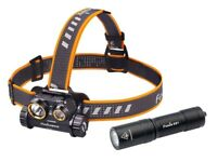 Fenix HM65R 1400 Lumen Spot and Flood light USB Rechargeable Headlamp w/ E01 V2