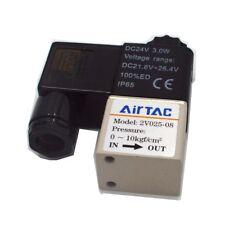 Solenoid Valve 2V025-08 AC/DC PT1/4 2 Position 2 Way IP65 DC 24V 1PC