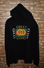 Gucci authentic sweatshirt hoodie Gucci Vintage Logo Distressed effect size L