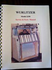 Wurlitzer 2250 Jukebox Manual