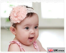 Elastic Lace Flower Headband Baby Headband Little Girl Hairband UK SELLER