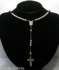Vintage Rosary 925 Sterling Silver MEXICO  Tm-298